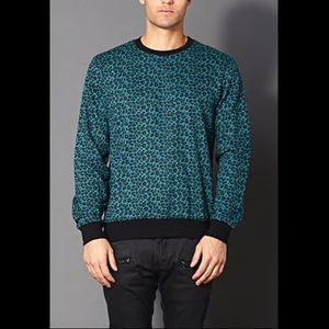 Forever 21 Men Jade leopard 🐆 print sweater